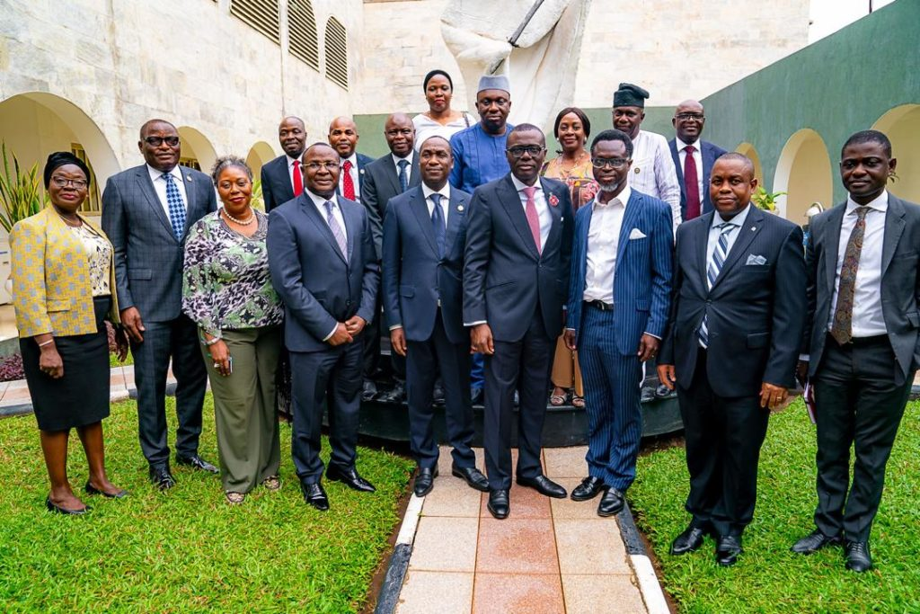 MD/CEO of Jubilee Life with the Lagos State Governor and others